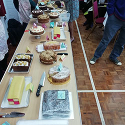 Cakes at the Vintage Coffee Morning event