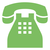 Icon of a green telephone
