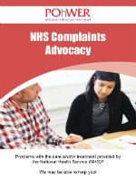 The front cover of the NHS Complaints leaflet.