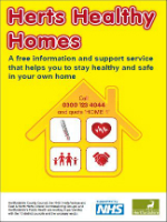 Herts Healthy homes leaflet front cover.