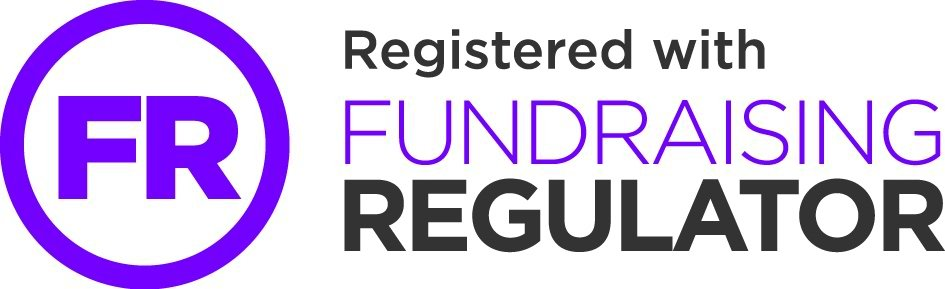 Registered with the Fundraising Regulator logo
