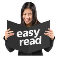 A picture of a EasyRead logo.
