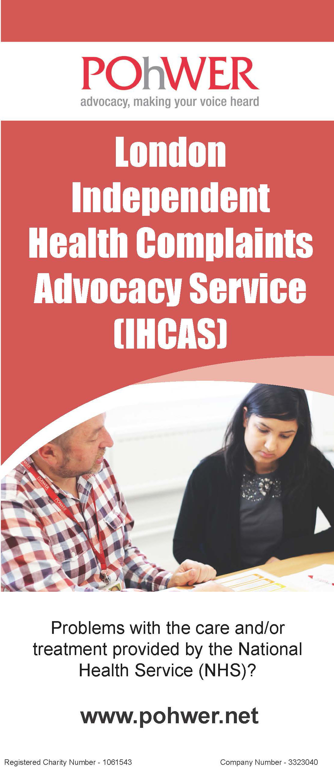 London ICAS Leaflet Cover
