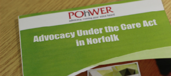 A picture of the Norfolk Care Act leaflet.