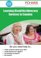 POhWER Camden Learning Disability Advocacy Leaflet