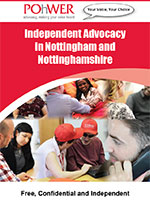POhWER Independent Advocacy in Nottingham and Nottinghamshire leaflet cover