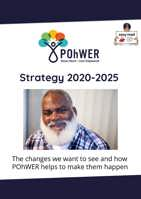Cover of the easy read summary of the POhWER Strategy 2020-2025. A photo of a smiling bearded man is on the cover.