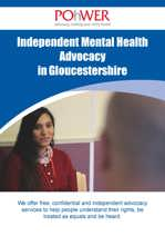 Front cover of the Gloucestershire IMHA Leaflet