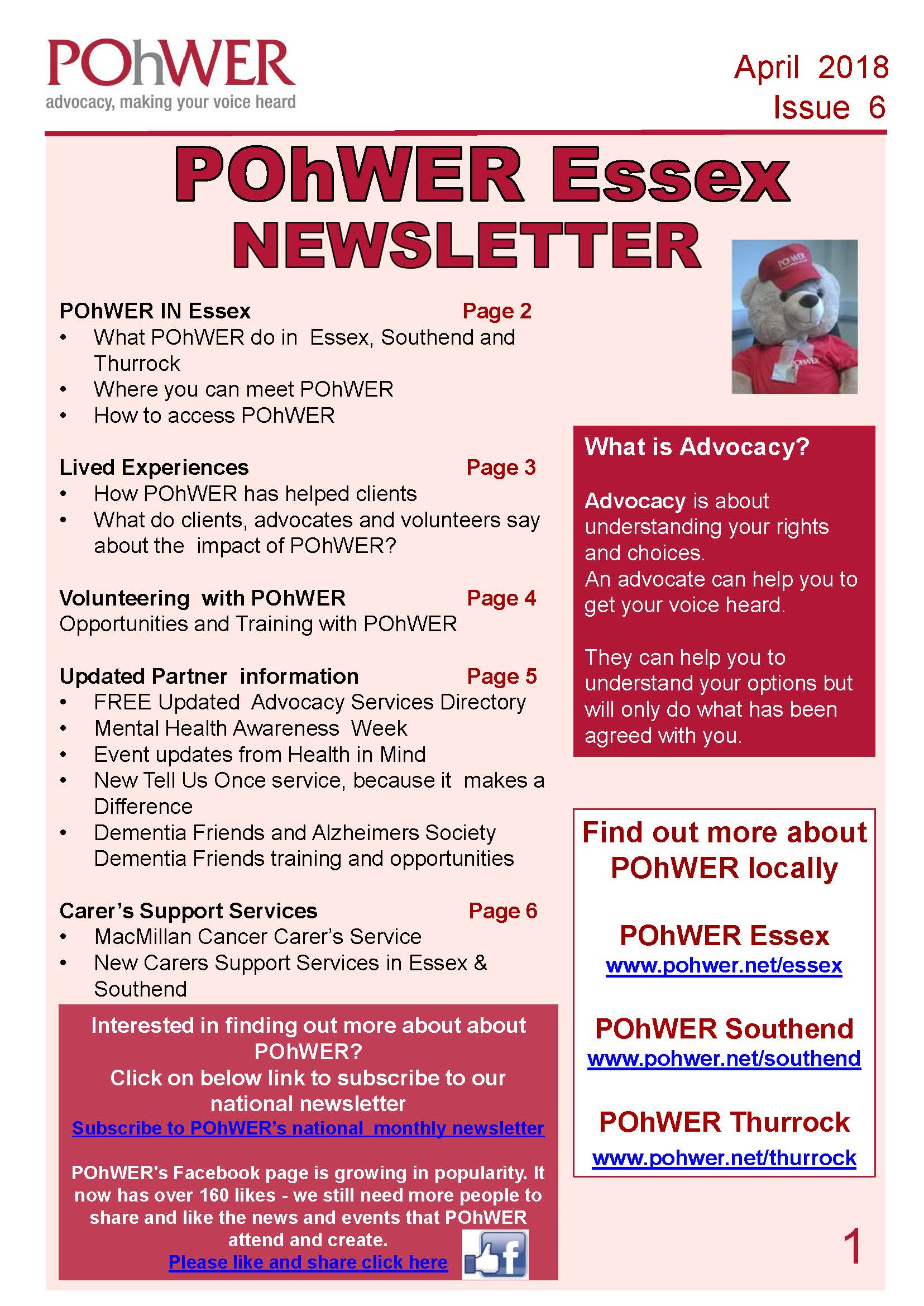 Essex Newsletter Issue 6