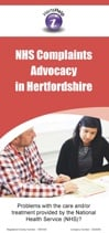 Hertfordshire NHS complaints leaflet cover