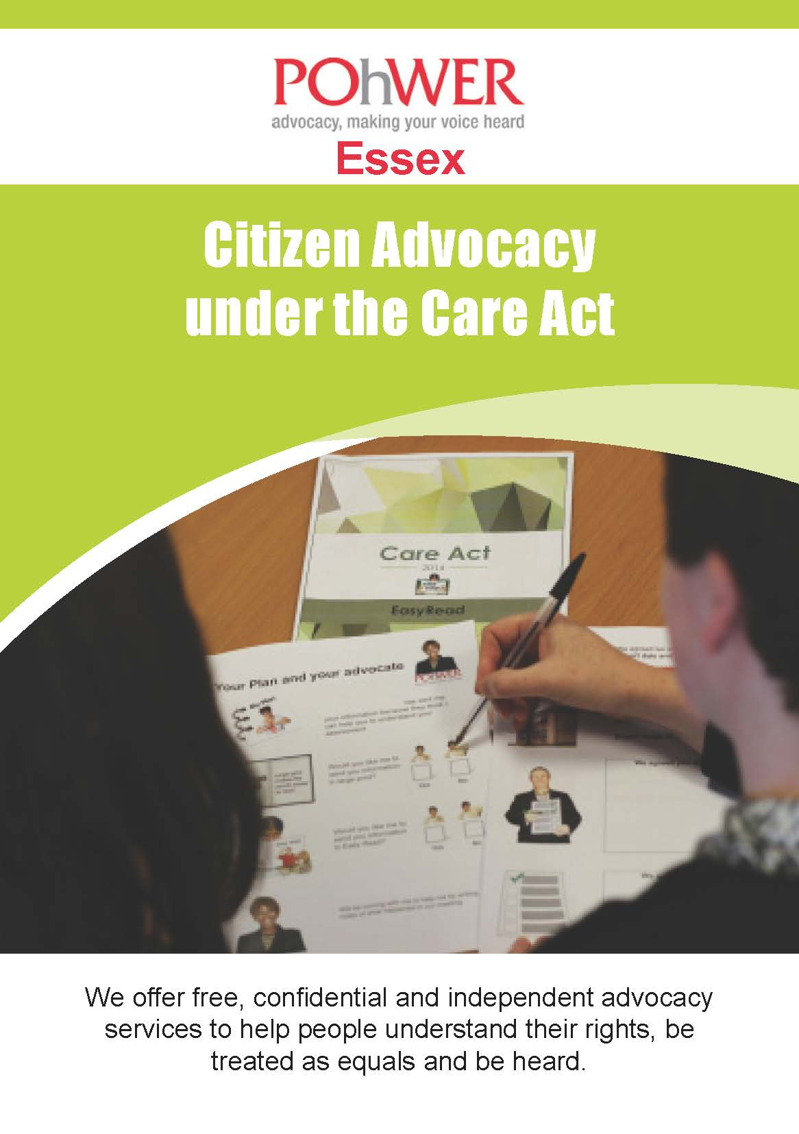 POhWER Essex Citizen Advocacy Leaflet