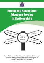 Hertfordshire Health and Social Care leaflet cover