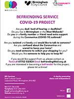 Befriending Service Covid-19 Project Poster - BID Services