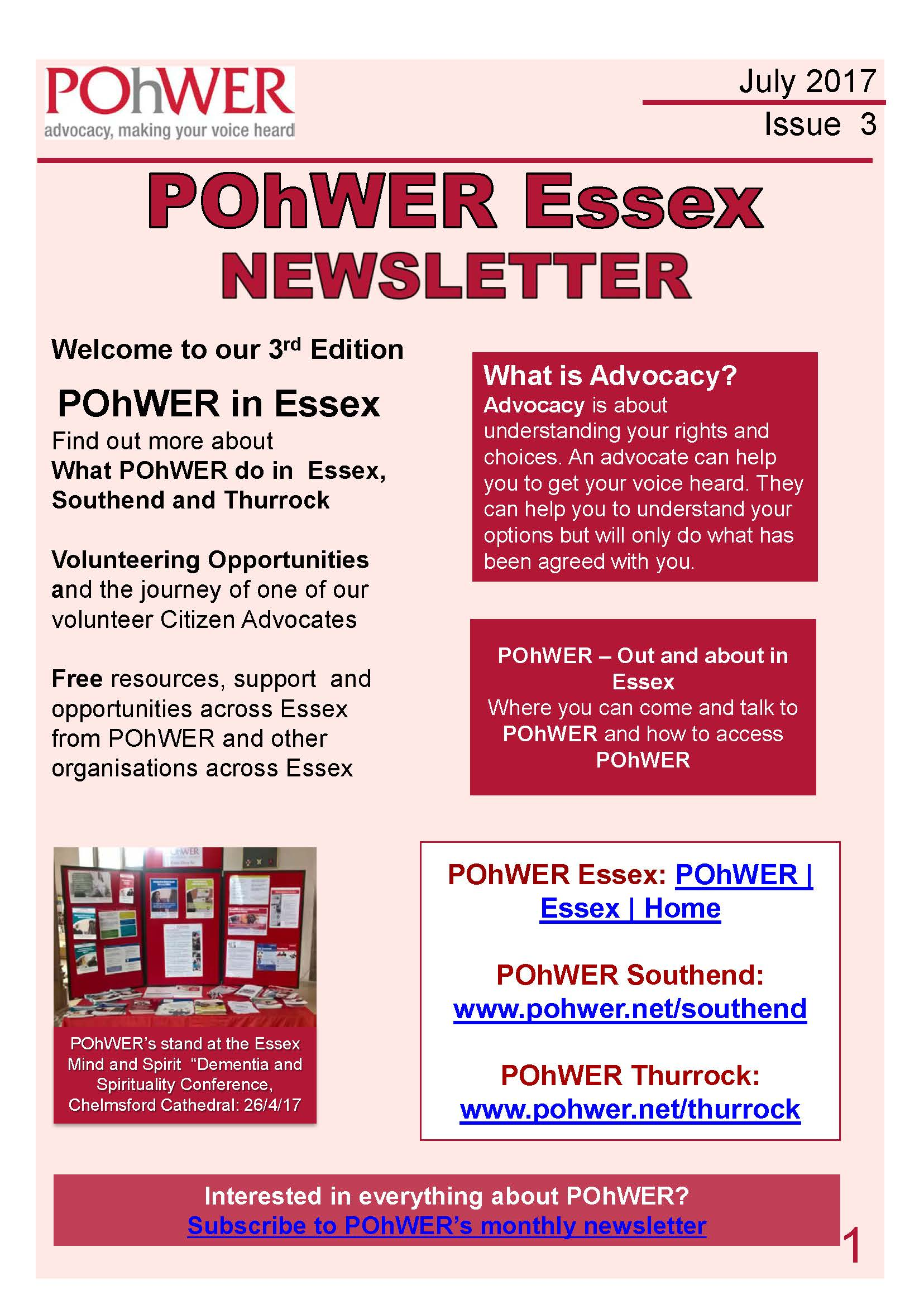 Essex Newsletter Issue 3