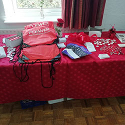 POhWER stall at the Vintage Coffee Morning event