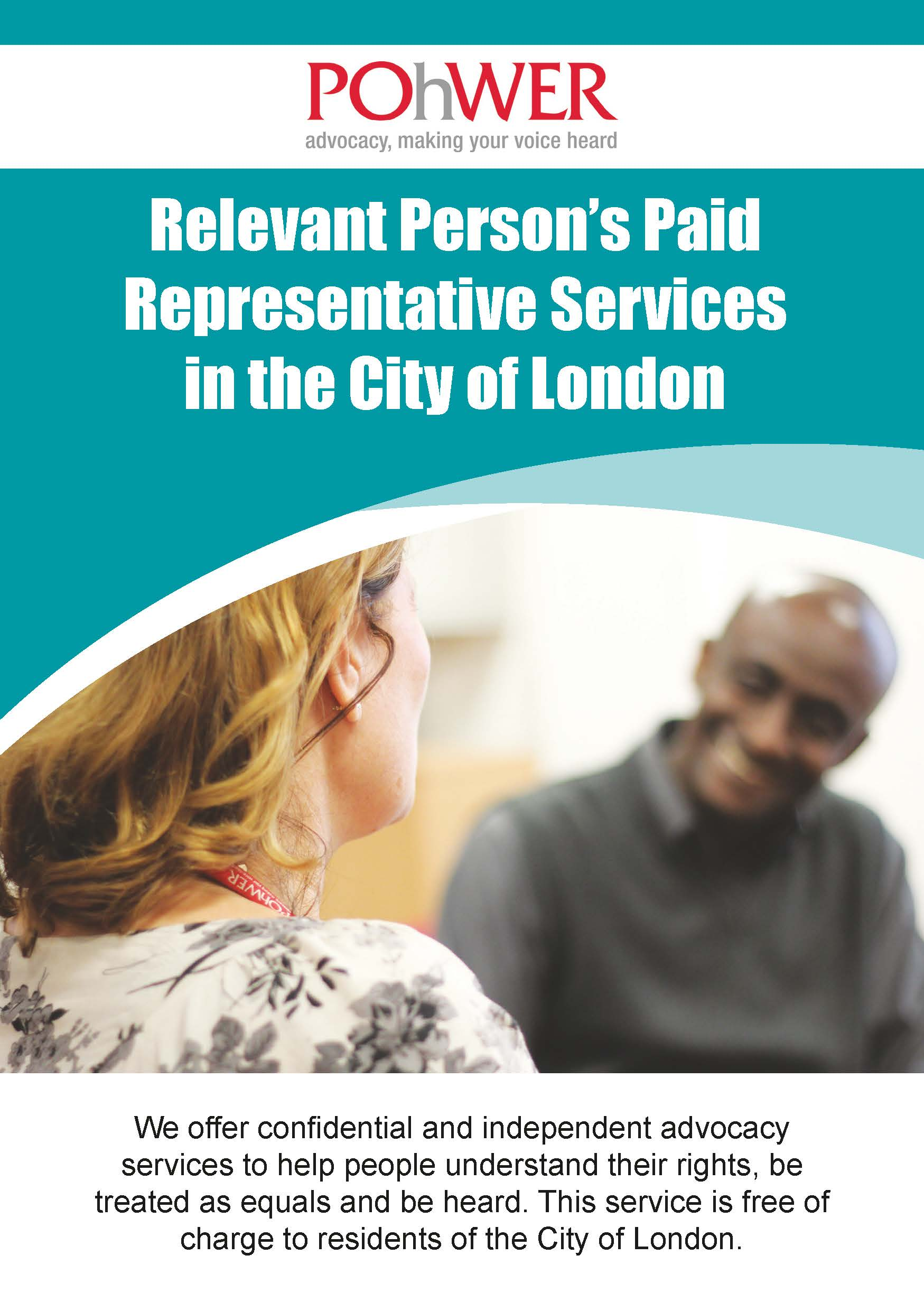 POhWER City of London Relevent Paid Person