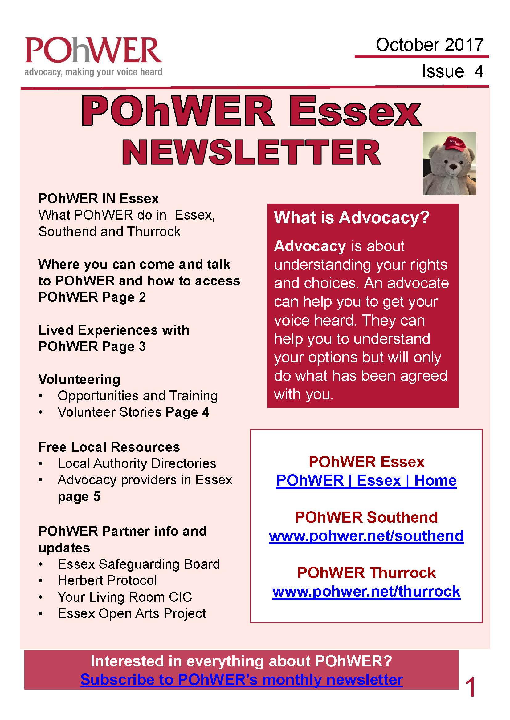 Essex Newsletter issue 4 cover