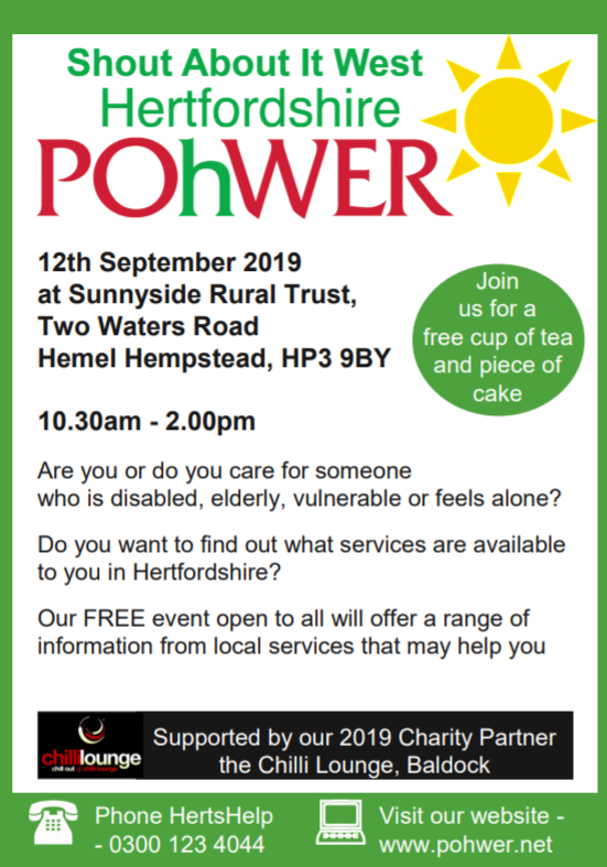 Shout About It 2019 - West Hertfordshire | POhWER