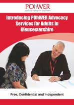 The front cover of the Gloucestershire Independent Advocacy Leaflet