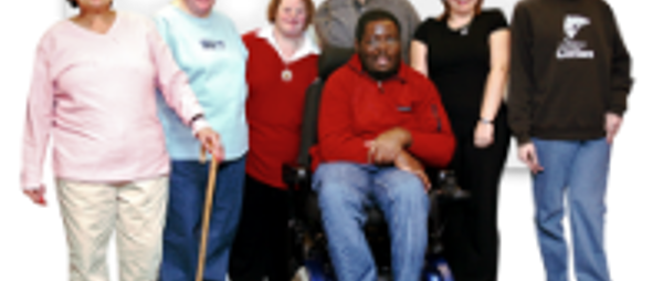 A group of people with a variety of different physical, sensory and learning disabilities.