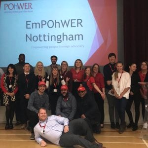 Nottingham team at the EmPOhWER Nottingham event