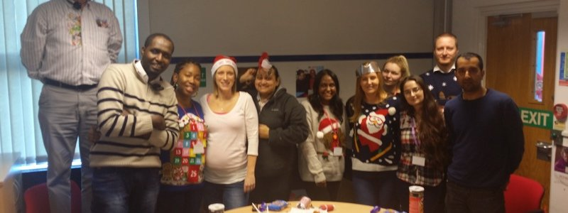 the Birmingham teams Christmas Photo