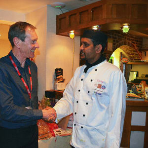 POhWER CEO meets Head Chef of Chilli Lounge