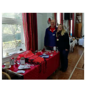 Natasha Bartley and Geoff Gibbs at the Vintage Coffee Morning event